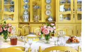 Yellow Dining Room Ideas Yellow Dining Room View In Gallery Patterned Rug Adds Yellow To