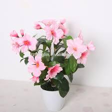 Home Decor For Cheap Wholesale Red Azalea Plastic Flower Bouquet Cheap Wholesale Artificial