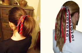 ribbon ponytail how to make a ribbon ponytail holder beauty r beauty