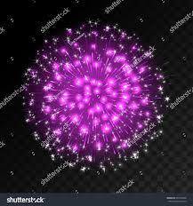 colorful firework explosion on transparent background stock vector