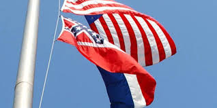 Jefferson State Flag Mississippi Flag Confederate Emblem Flies Again Over This Town
