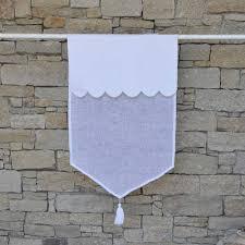 brise bise coeur linge de maison en lin ou en percale de coton rideaux en lin