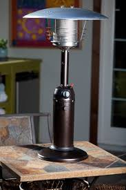 Table Top Patio Heaters Propane Sense Hammer Tone Bronze Finish Table Top Patio Heater
