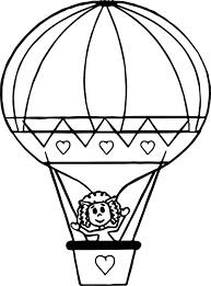 cute air balloon coloring page wecoloringpage