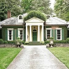exterior paint color sage green shutters white trim u0026 brick
