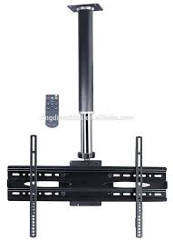 style ecnomical electric remote flip down ceiling lcd tv stand