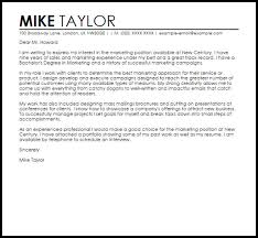 cover letter for a marketing job