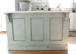 kitchen island molding remodelando casa kitchen island painted ascp duck egg blue