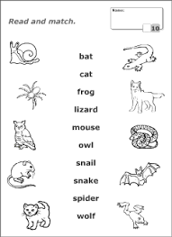 halloween animals vocabulary for kids learning english printable