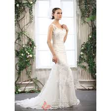 column wedding dresses abina ivory or white lace gown