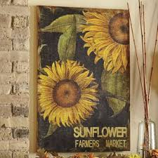 Sunflower Decorations Fall Decor Sunflower Harvest Autumn Country Door
