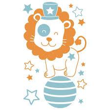 chambre cirque sticker mural cirque motif bébé garçon pour chambre bébé garçon