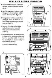 2000 lexus rx300 stereo wiring diagram 2000 wiring diagrams