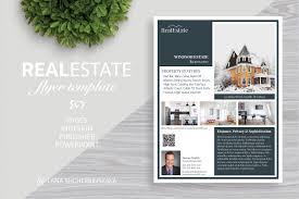 real estate flyer template no 2 flyer templates creative market