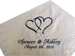 personalized wedding blankets wedding throw personalized hearts rings