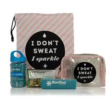 i don t sweat i sparkle bunny gift box health and fitness gifts the great gift company