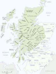 Map Scotland Clan Map