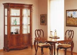 Dining Room Accent Furniture 18th Century Siciliano Table And Glass Showcase Vimercati