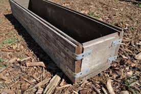 diy rustic wood planter box make life lovely