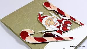3 santa claus cards n cuts