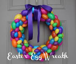how to make an easter egg wreath diy easter egg wreath