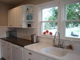 kitchen sink backsplash backsplash beadboard kitchen backsplash remodelaholic kitchen