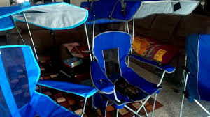 Folding Chair With Canopy Top by The Renetto And Kelsyus Canopy Chairs Youtube