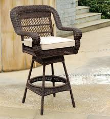 Patio Bar Chair Rst Brands Cannes All Weather Wicker Motion Patio Bar Stool With
