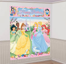 amazon com amscan disney princess scene setter toys u0026 games
