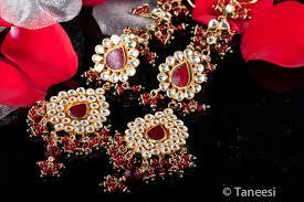 Red Chandelier Earrings Red Chandelier Earrings Kundan Earrings Wedding Jewellery