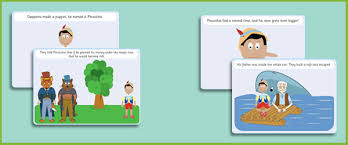 pinocchio story sequencing cards free early u0026 primary