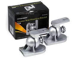logitech speaker wall mount speaker wall mounting bracket silver max 7 5lbs set of 2