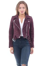 moto jacket blank nyc women u0027s burgundy suede moto jacket in at amazon women u0027s
