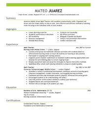 Free Resume Templates For Teachers To Download Teacher Resume Summary Free Resume Example And Writing Download