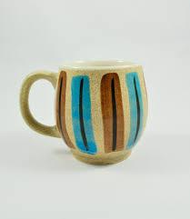 mid century modern coffee mug ceramic stoneware coffee mug