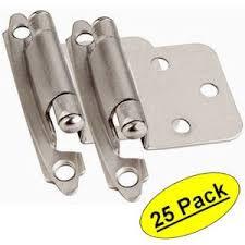 Kitchen Cabinet Hardware Brushed Nickel Cosmas 17139 Sn Satin Nickel Hinge Variable Overlay 17139 Sn