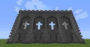 castle wall decoration u0026 design minecraft seeds pc xbox pe ps4