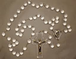 wall rosary clear acrylic wall rosary catholic superstore