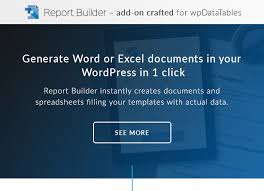 report builder templates wpdatatables tables and charts manager for by tms plugins