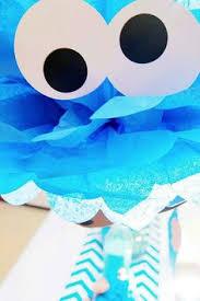 sesame street birthday party ideas monster centerpieces cookie