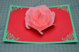 Make A Invitation Card Rose Flower Pop Up Card Tutorial Creative Pop Up Cards