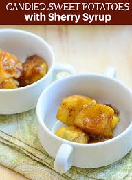 candied sweet potatoes with sherry syrup rings things