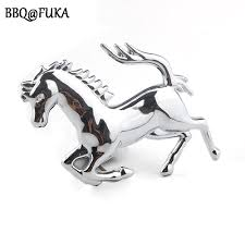 mustang horse logo bbq fuka 3d metal horse emblem car window bumper body fender