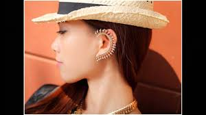 how do you wear ear cuffs how to wear ear cuffs with personality