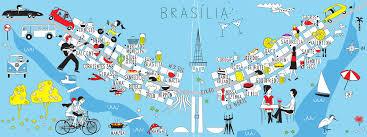 map of brasilia they draw and travel artist map of brasilia o papagaio