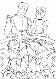 kids coloring pages cinderella and prince dancing coloring pages