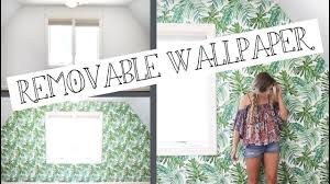 Temporary Fabric Wallpaper by Putting Up Palm Leaf Temporary Wallpaper Youtube