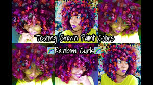 natural hair testing crown paint colors rainbow curls youtube