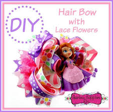 how to make a hair bow easy how to add lace flowers to a hair bow easy hair bow