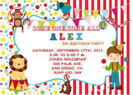 circus party invitations party invitations templates